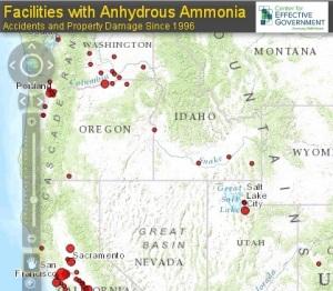 CEG Ammonia Map