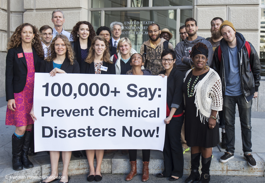 Chemical Security Petition Delivery to the EPA